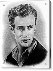 Hollywood Greats James Dean Acrylic Print by Andrew Read