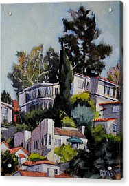 Hollywood Hills Acrylic Print