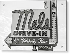 Hollywood Landmarks - Mel's Drive-in Acrylic Print by Art Block Collections
