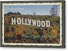 Hollywood Postcard Acrylic Print by Bill Jonas