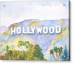 Hollywood Sign California Acrylic Print