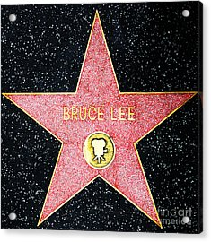 Hollywood Walk Of Fame Bruce Lee 5d28971 Acrylic Print