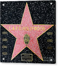 Hollywood Walk Of Fame Lapd Hollywood 5d28920 Acrylic Print by Wingsdomain Art and Photography