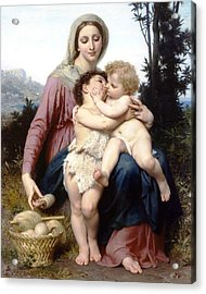 Holy Family Acrylic Print by William Bouguereau