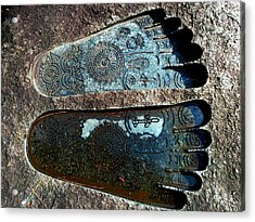 Acrylic Print featuring the photograph Holy Feet by Julia Ivanovna Willhite