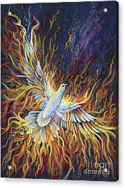 Holy Fire Acrylic Print by Nancy Cupp