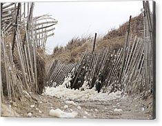Holy Foam Acrylic Print by Eugene Bergeron