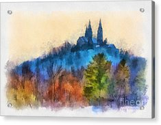 Holy Hill Autumn Acrylic Print by Clare VanderVeen