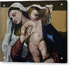 Holy Mother And Son Acrylic Print