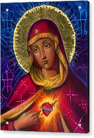 Holy Mother Acrylic Print by Luis  Navarro