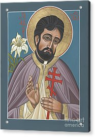 Acrylic Print featuring the painting Holy New Martyr Father John Karastamatis Of Santa Cruz 216 by William Hart McNichols