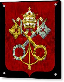 Holy See Flag Acrylic Print by World Art Prints And Designs