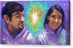 Acrylic Print featuring the painting Holy Spirit Be-livers by Hidden  Mountain