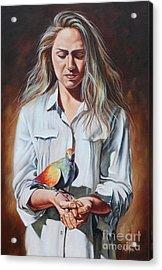 Holy Spirit Acrylic Print by Ilse Kleyn