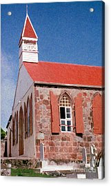 Holy Trinity Church On Saba Acrylic Print