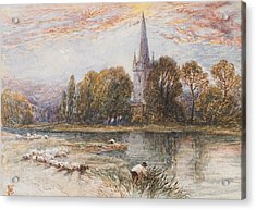 Holy Trinity Church On The Banks If The River Avon Stratford Upon Avon Acrylic Print by Myles Birket Foster