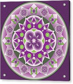 Holy Week Mandala Acrylic Print by Linda Pope
