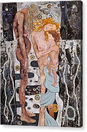 Homage To Klimt's Three Ages Of Woman Acrylic Print by Sheri Howe