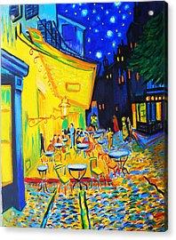 Homage To Master Van Gogh's Terrace At Arles Acrylic Print by Susi Franco