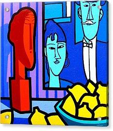 Homage To Modigliani Acrylic Print by John  Nolan