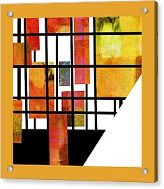 Homage To Mondrian Three Acrylic Print by Ann Powell