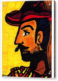 Acrylic Print featuring the drawing Hombre by Don Koester