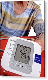 Home Blood Pressure Testing Acrylic Print by Aj Photo