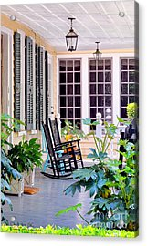 Veranda - Charleston, S C By Travel Photographer David Perry Lawrence Acrylic Print