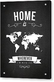 Home - Dark Acrylic Print