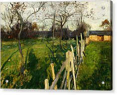 Home Fields Acrylic Print by John Singer Sargent