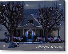 Acrylic Print featuring the photograph Home For Christmas by Bonnie Willis