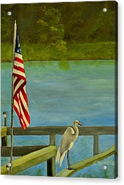Home For The 4th Acrylic Print by Nina Stephens