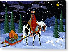 Home For The Holidays Acrylic Print by Chholing Taha