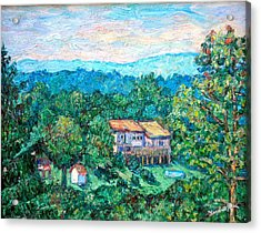 Home In The Hills Acrylic Print by Kendall Kessler