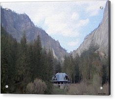Home In The Mountains Acrylic Print by Jeff Kolker