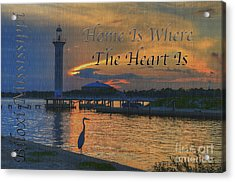 Acrylic Print featuring the photograph Home Is Where The Heart Is by Maddalena McDonald