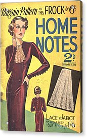 Home Notes 1940s Uk Women At War Womens Acrylic Print by The Advertising Archives