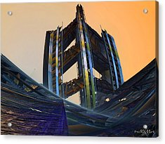 Acrylic Print featuring the digital art Home Of Brave  by Melissa Messick
