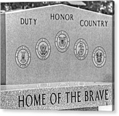 Home Of The Brave Acrylic Print by Heather Allen