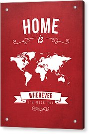 Home - Red Acrylic Print by Aged Pixel