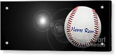 Home Run - Baseball - Sport - Night Game - Panorama Acrylic Print