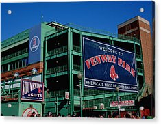 Home Sweet Fenway Acrylic Print by Stephen Melcher