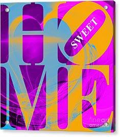 Home Sweet Home 20130713 Fractal Heart V1 Acrylic Print