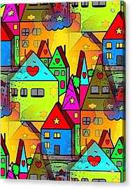 Home Sweet Home By Nico Bielow Acrylic Print