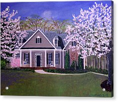 Acrylic Print featuring the painting Home Sweet Home by Janet Greer Sammons