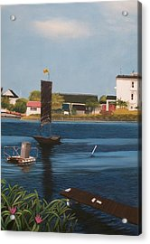 Acrylic Print featuring the painting Home Town by Susan Roberts