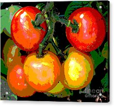 Homegrown Tomatoes Acrylic Print by Annette Allman
