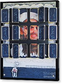 Homeland Security Phase 2 The Face Of Terror Full-blown Acrylic Print by Mack Galixtar