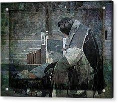 Homeless Man Acrylic Print by Geoffrey Coelho
