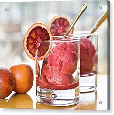 Homemade Blood Orange Sorbet Acrylic Print by Madlyinlovewithlife